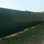 Забор из 3д сетки и профлиста С-8 (RAL 6005 и другие)