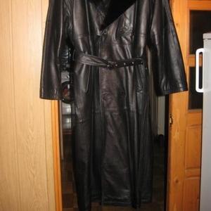vip-кожанное мужское пальто